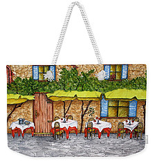 Table For Three Weekender Tote Bag
