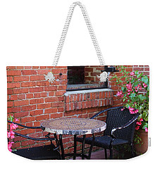 Weekender Tote Bag featuring the photograph Table For Two by Cynthia Guinn