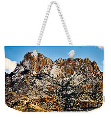 Weekender Tote Bag featuring the photograph Table Mountain In Winter 42 by Mark Myhaver