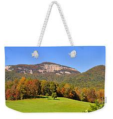 Table Rock In Autumn Weekender Tote Bag