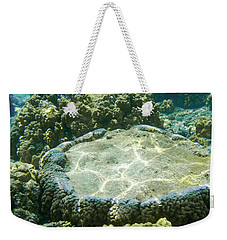 Table Top Coral Weekender Tote Bag