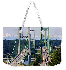 Tacoma Narrows Bridge Weekender Tote Bag