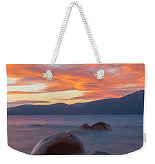 Tahoe Burning Weekender Tote Bag