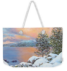 Tahoe Winter Colors Weekender Tote Bag