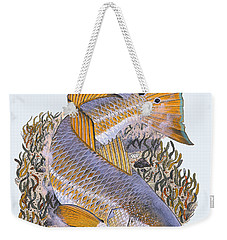 Tailing Redfish Weekender Tote Bag by Carey Chen