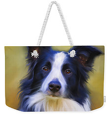 Beautiful Border Collie Portrait Weekender Tote Bag