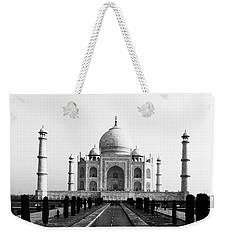 Taj Mahal Bw Weekender Tote Bag