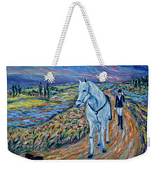 Weekender Tote Bag featuring the painting Take Me Home My Friend by Xueling Zou