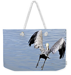 Weekender Tote Bag featuring the photograph Take Off by AJ  Schibig