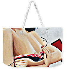 Take-off Time Bomber Babe Weekender Tote Bag by Kathy Barney