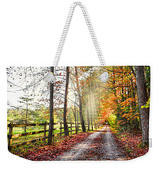 Take The Back Roads Weekender Tote Bag