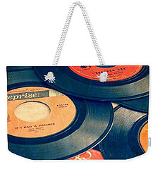 Take Those Old Records Off The Shelf Weekender Tote Bag by Edward Fielding