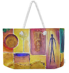 Weekender Tote Bag featuring the painting Take Time by Jocelyn Friis