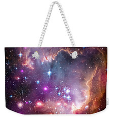 Weekender Tote Bag featuring the  Taken Under The Wing Of The Small Magellanic Cloud by Paul Fearn