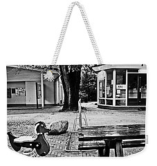 Weekender Tote Bag featuring the photograph Taking A Break by Andy Prendy