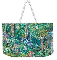 Weekender Tote Bag featuring the painting Taking A Break by Kendall Kessler