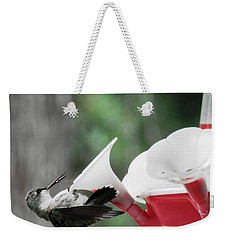 Baby Hummingbird Taking It Easy Weekender Tote Bag