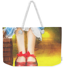 Taking Yellow Path Weekender Tote Bag