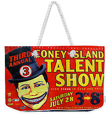 Talent Show Weekender Tote Bag