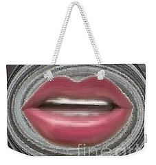 Weekender Tote Bag featuring the digital art Talk by Catherine Lott