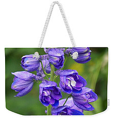 Weekender Tote Bag featuring the photograph Tall Garden Beauty by Eunice Miller
