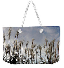 Tall Grasses And Blue Skies Weekender Tote Bag by Dora Sofia Caputo Photographic Art and Design