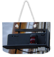 Weekender Tote Bag featuring the photograph Tall Ship Bow Light by Dale Powell
