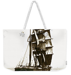 Weekender Tote Bag featuring the photograph Tall Ship Germania Out Of San Francisco California  Circa 1900 by California Views Mr Pat Hathaway Archives