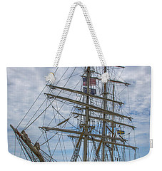 Weekender Tote Bag featuring the photograph Tall Ship Gunilla Vertical by Dale Powell