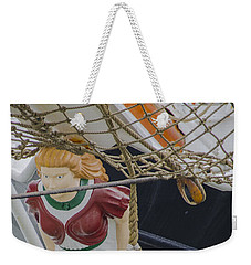 Weekender Tote Bag featuring the photograph Tall Ship Gunilla Masthead by Dale Powell
