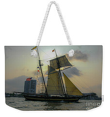 Weekender Tote Bag featuring the photograph Tall Ship In Charleston by Dale Powell