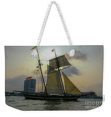 Tall Ship In Charleston Weekender Tote Bag by Dale Powell