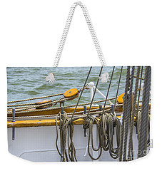 Weekender Tote Bag featuring the photograph Tall Ship Rigging by Dale Powell