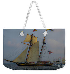 Weekender Tote Bag featuring the photograph Tall Ships by Dale Powell