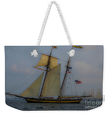 Tall Ships In The Lowcountry Weekender Tote Bag by Dale Powell