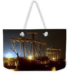 Tall Ships Weekender Tote Bag by Debra Forand