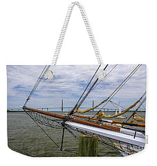 Weekender Tote Bag featuring the photograph Tall Ships In Charleston by Dale Powell
