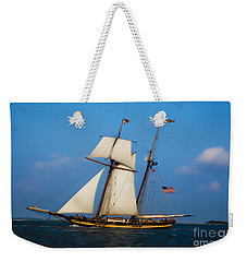 Weekender Tote Bag featuring the digital art Tall Ships Over Charleston by Dale Powell