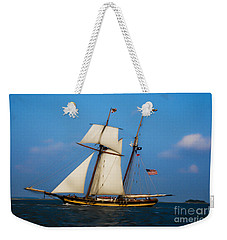 Tall Ships Over Charleston Weekender Tote Bag by Dale Powell