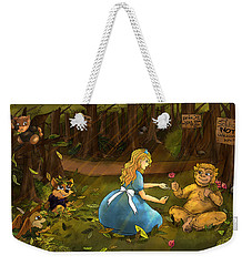 Weekender Tote Bag featuring the painting Tammy And The Baby Hoargg by Reynold Jay