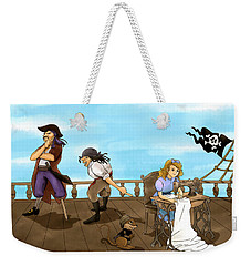 Tammy And The Pirates Weekender Tote Bag by Reynold Jay