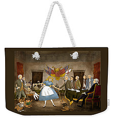 Weekender Tote Bag featuring the painting Tammy In Independence Hall by Reynold Jay