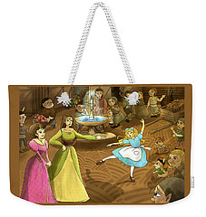 Weekender Tote Bag featuring the painting Tammy In The Town Square by Reynold Jay