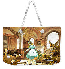 Weekender Tote Bag featuring the painting Tammy Meets Mr. Scott by Reynold Jay