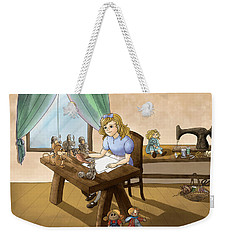 Weekender Tote Bag featuring the painting Tammy The Little Doll Girl  by Reynold Jay