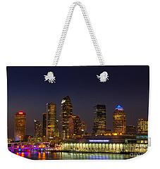 Tampa Lights At Dusk Weekender Tote Bag