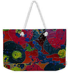 Weekender Tote Bag featuring the painting Tangent by Jacqueline McReynolds