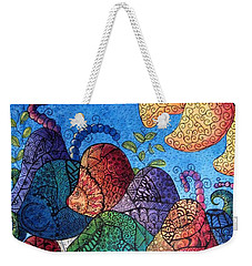 Tangled Mushrooms Weekender Tote Bag