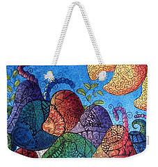 Tangled Mushrooms Weekender Tote Bag by Megan Walsh