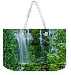 Pacific Northwest Waterfall Weekender Tote Bag